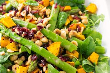 Pumpkin Asparagus Salad