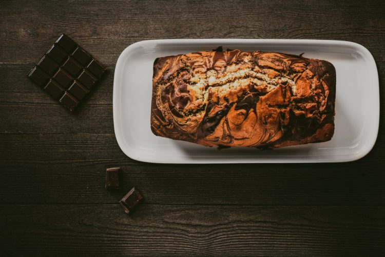 Chocolate Pumpkin Marble Cake