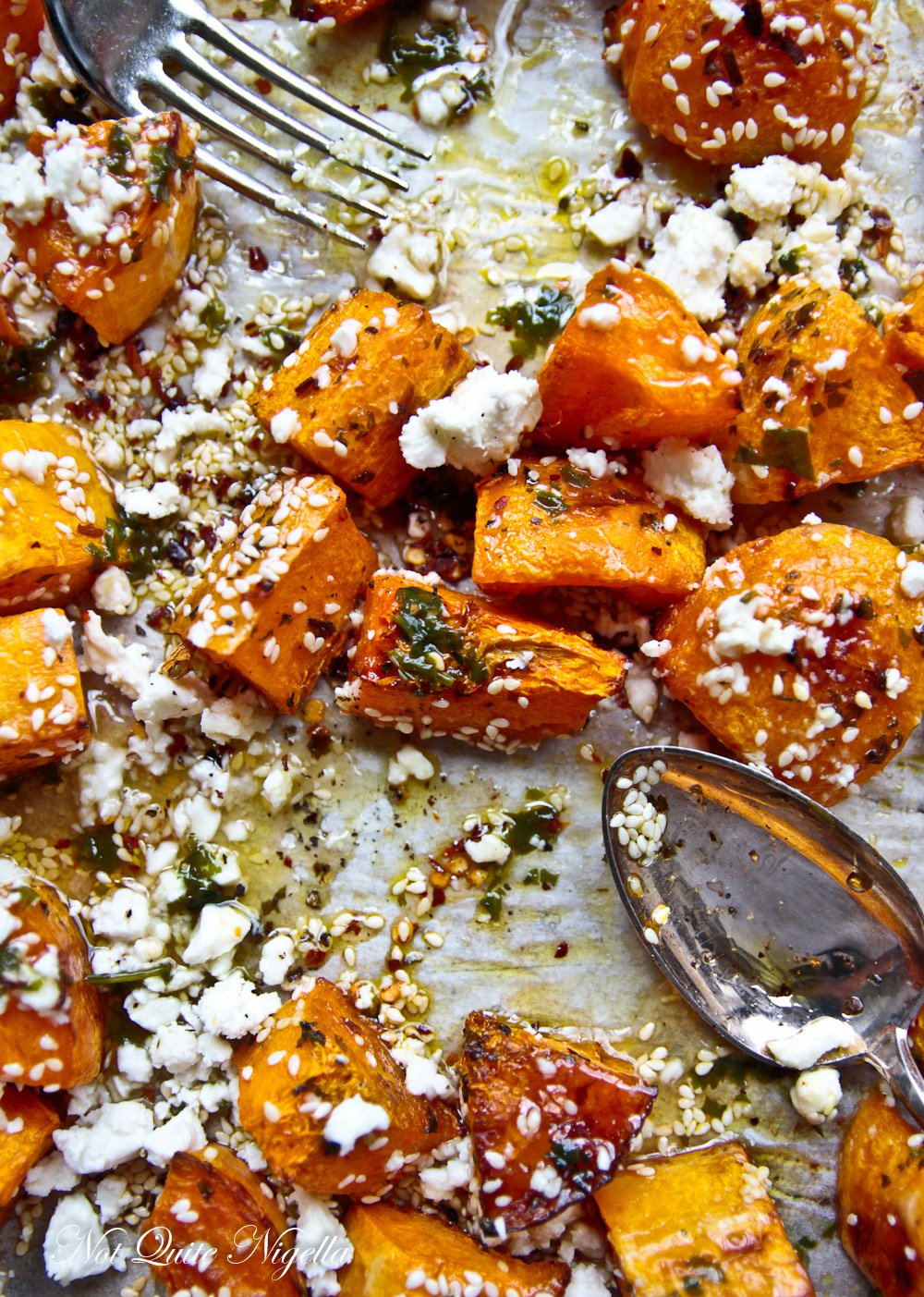 Roasted Pumpkin With Feta Honey